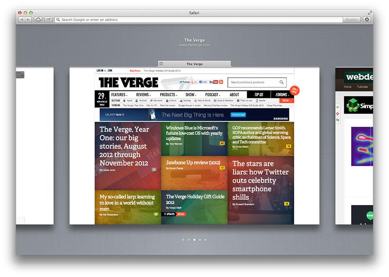 Safari 6 tab preview