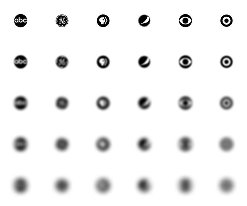 Blurred circular logos