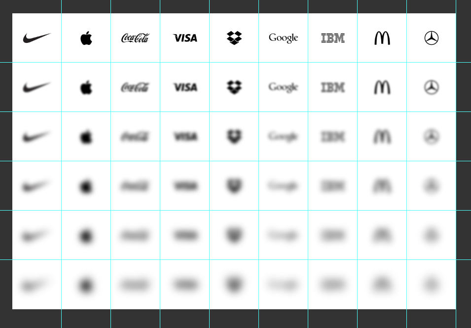 Photoshop screenshot of all the brands