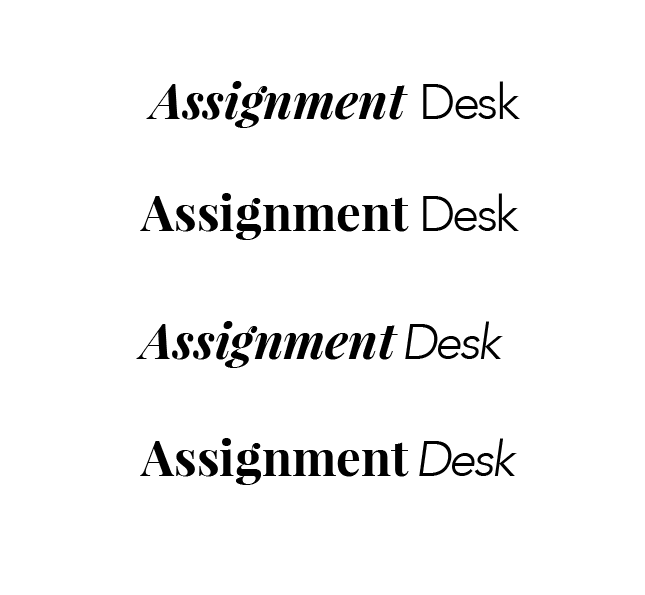 Working with font combinations