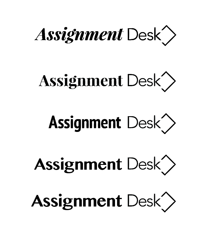 Trying square/desk variations with type