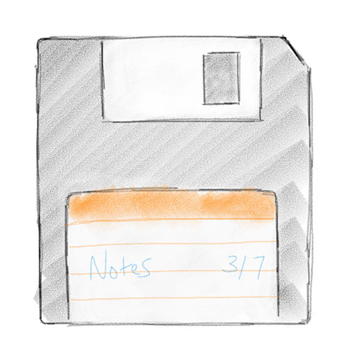 Floppy disk drawing
