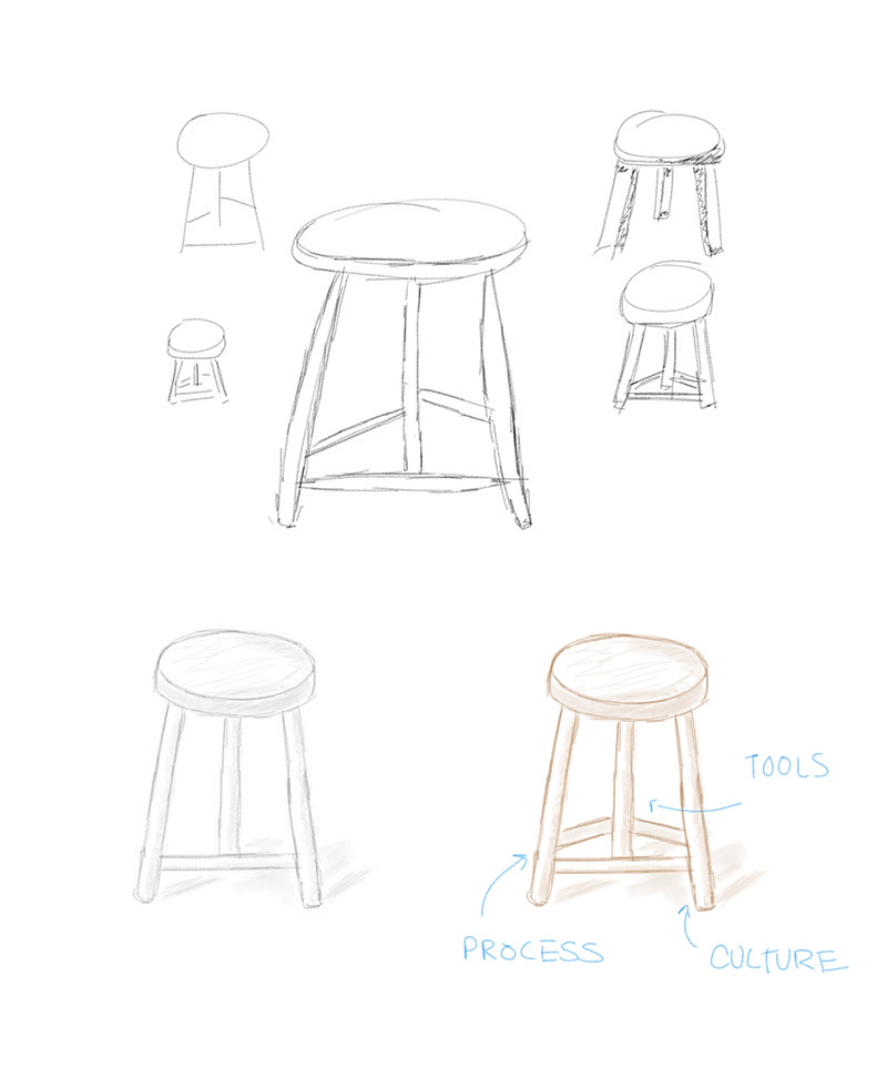 Stool drawings