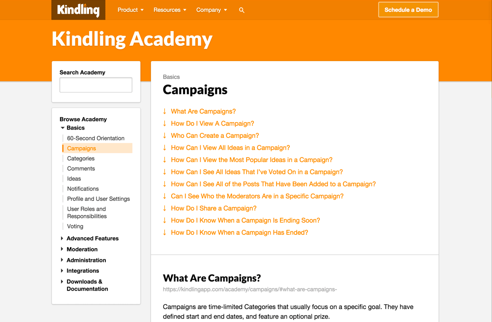 M2 browser screenshot: academy