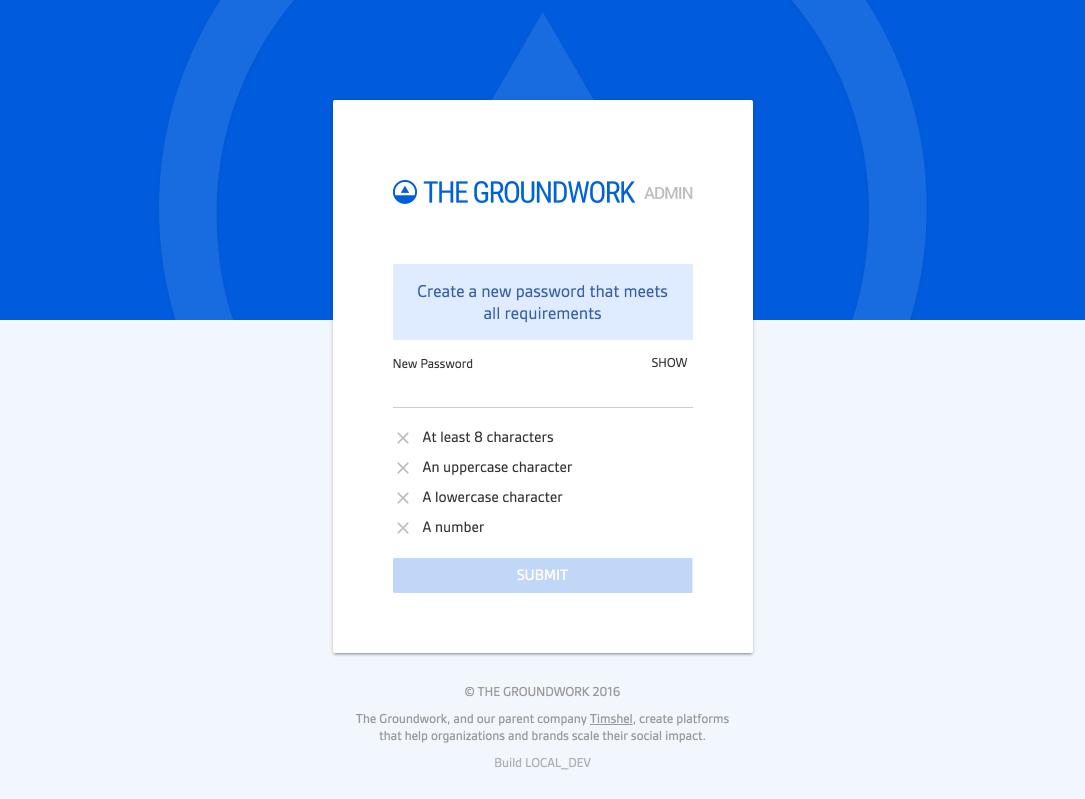 Screenshot of new tokenized forgot password page