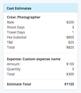Screenshot of attribute-value list variation