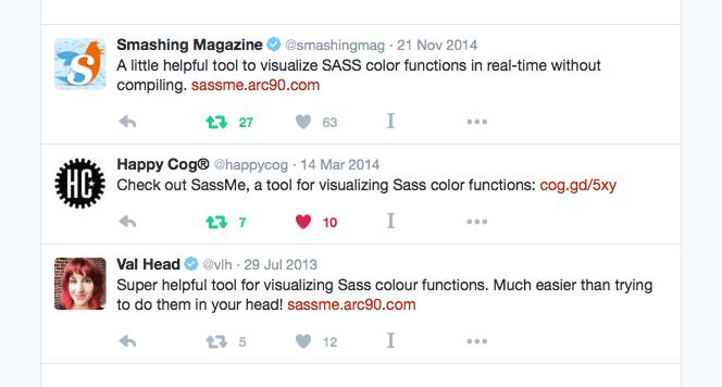 Screenshot of tweets