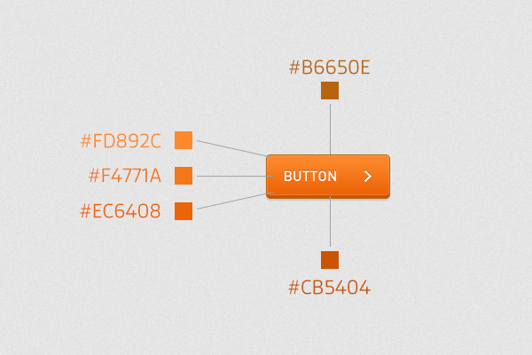 skeuomorphic button with colors