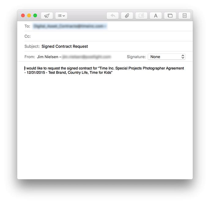 Screenshot of enhanced email