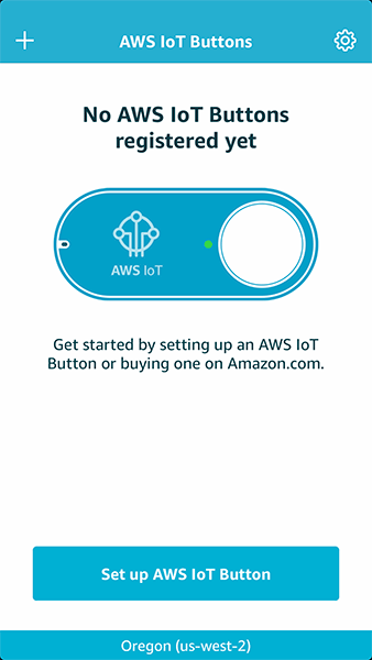 AWS IoT Button Dev app screenshot