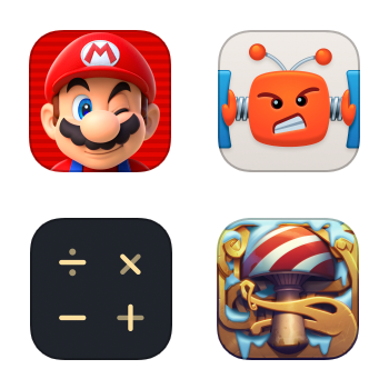 Icons processed for optinpng and imageoptim comparison