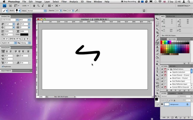 Screenshot of Photoshop CS4 for Mac