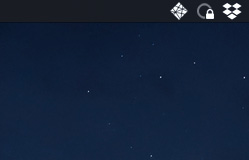Screenshot of Netlify app in my Mac's menu bar in dark mode