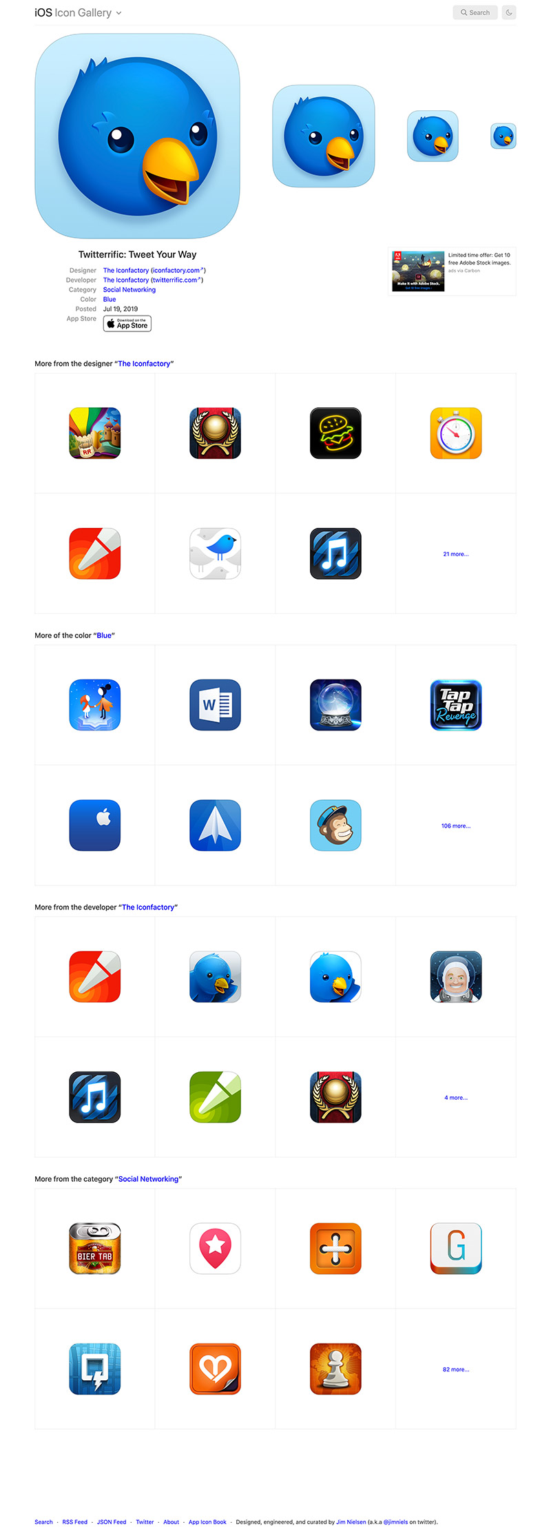 Screenshot of old icon view page for iosicongallery
