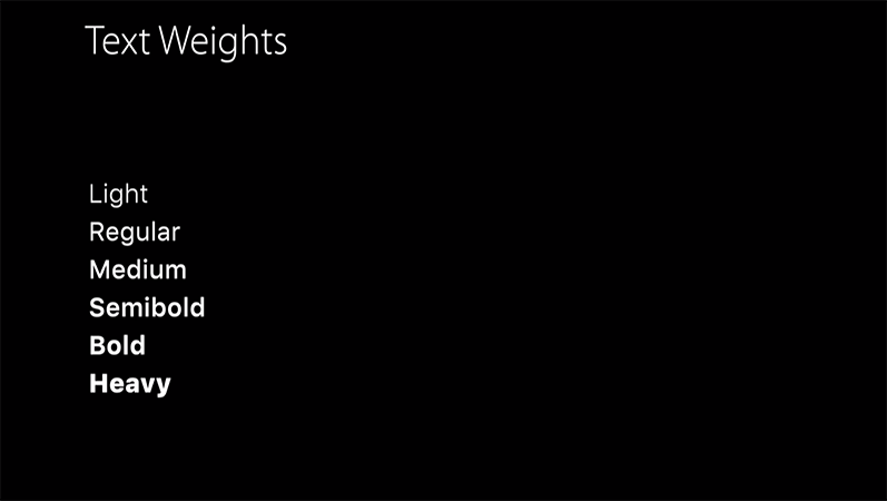 Text weights