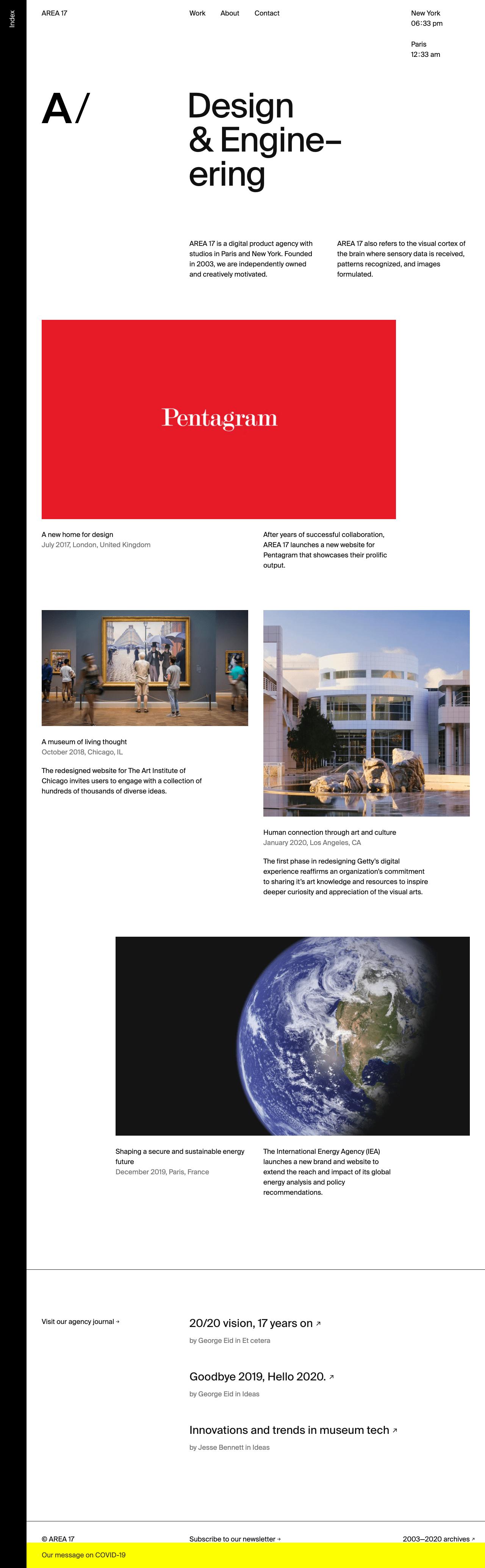 Visual Design Inspiration From Agency Websites And Other Tangential Observations Jim Nielsen S Weblog
