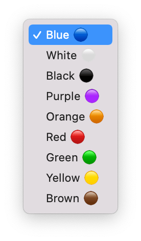 Screenshot of the select dropdown with the emojis being the last characters in the option values.