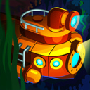 Idle Submarine: Raft to Boat app icon