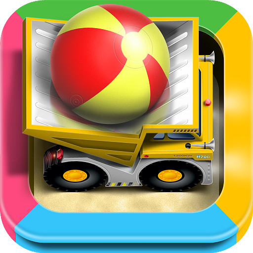 Cars in sandbox: Construction app icon