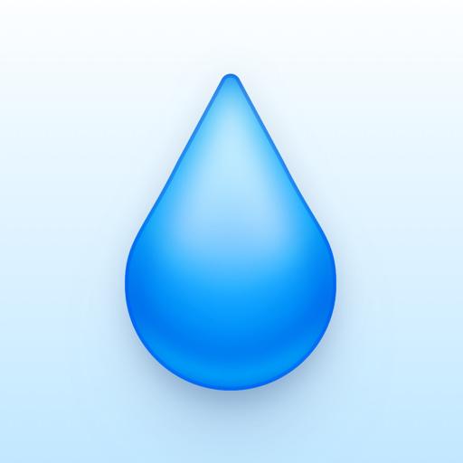 Drink water hydration tracker app icon