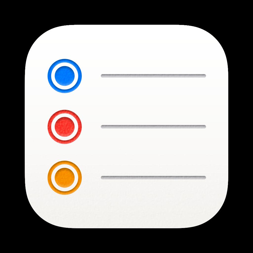 Reminders app icon