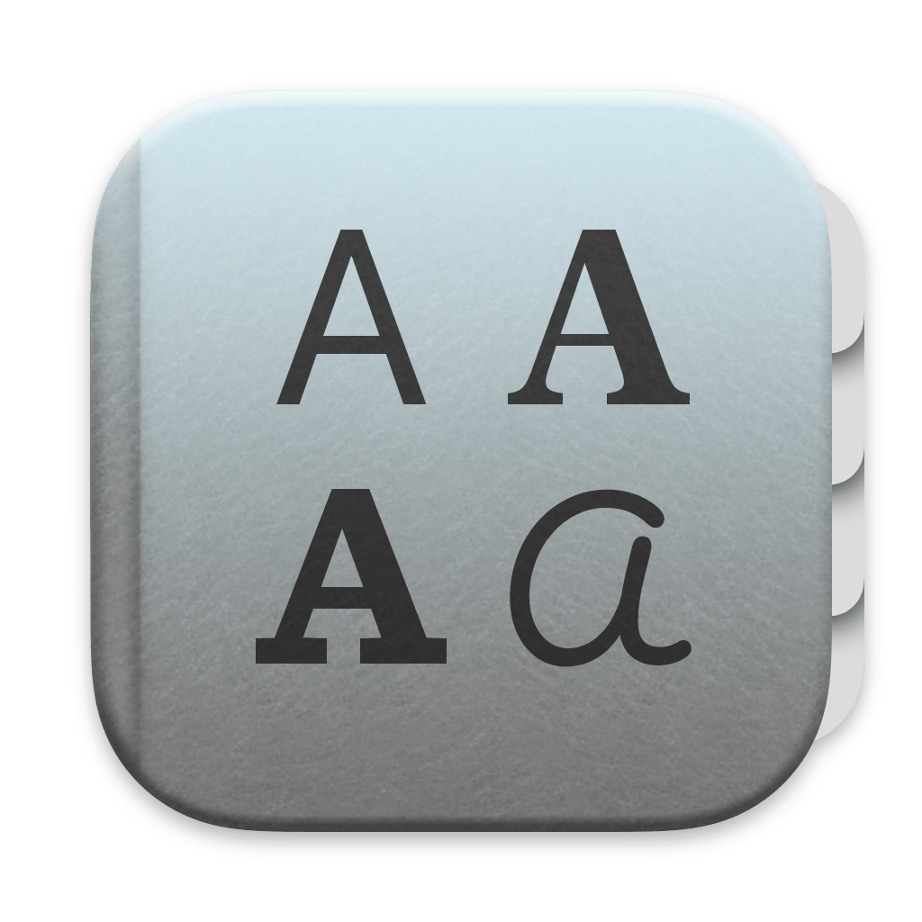 Font Book app icon